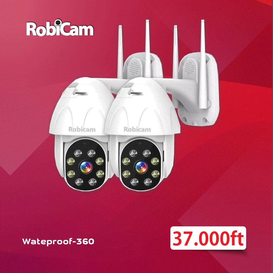 2 X Robicam Wateproof 360 – Vízálló Wifi motoros kamera. 2MP FULL HD 1080P