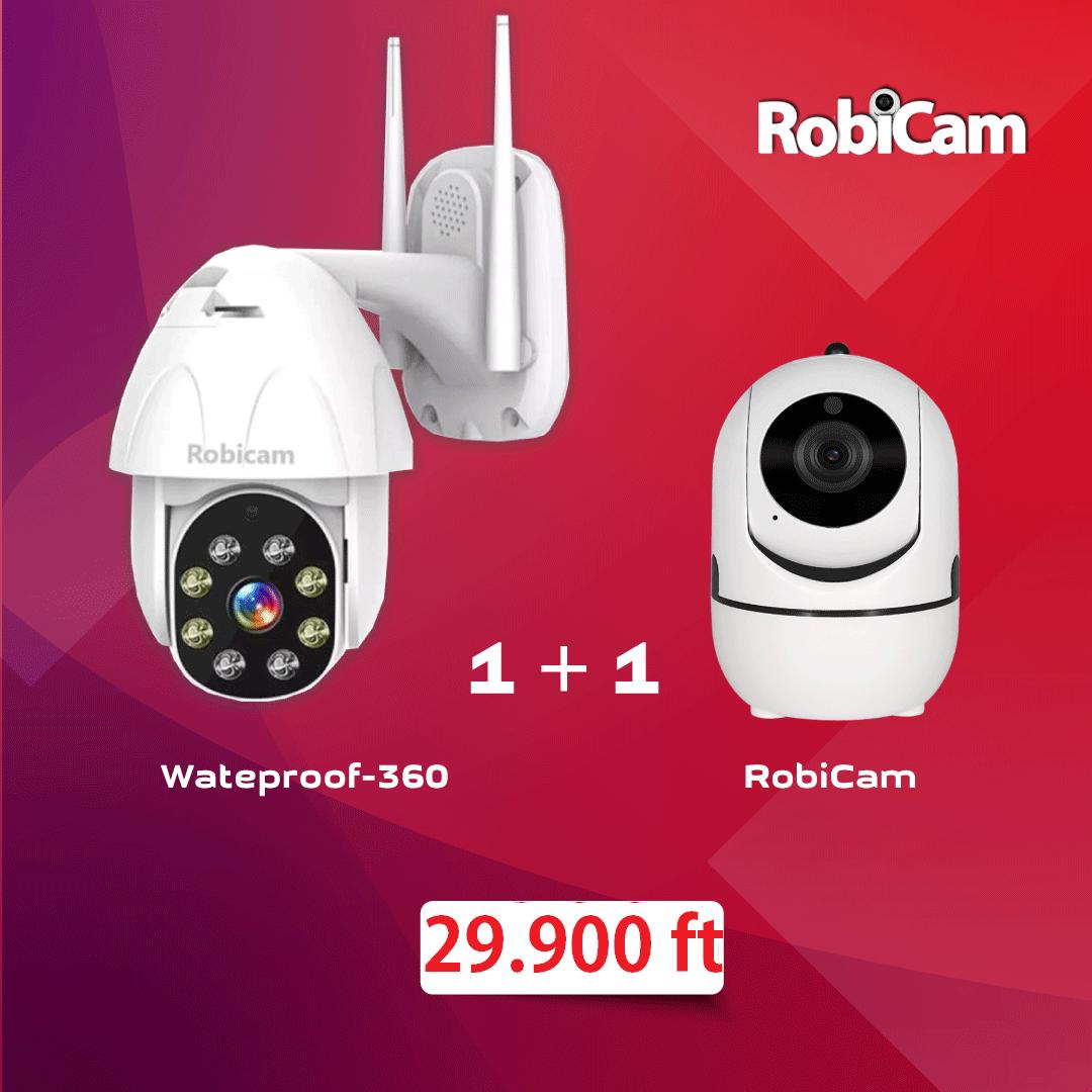 Promóciós csomag: 1+1 Robicam Wateproof 360 + Robicam beltéri telepítés