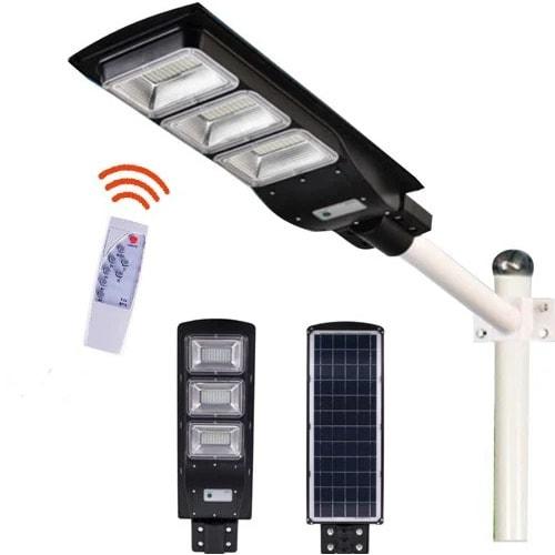 Intelligens mozgásérzékelős LED Solar integrált napelemes extra erős utcai lámpa, 180W